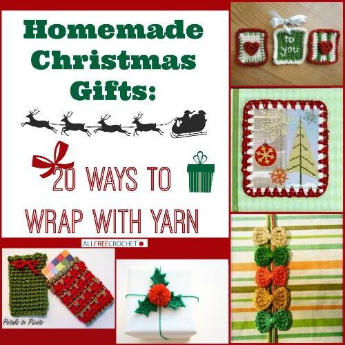 Homemade christmas gifts ways to wrap with yarn
