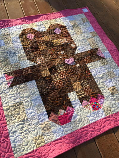 Roly Poly Teddy Bear Quilt