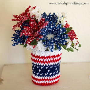 Patriotic Mason Jar Cozy Pattern