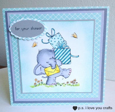 Elephant Baby Shower Card