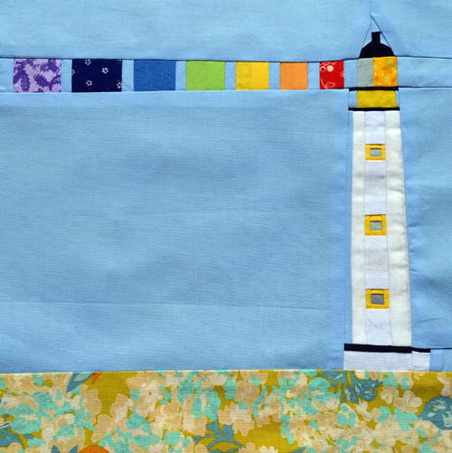 Rainbow Lighthouse Block Pattern