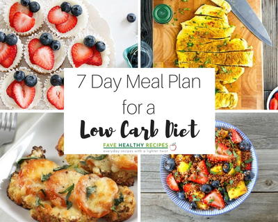 7 Day Meal Plan with All Low-Carb Diet Recipes