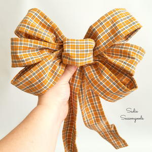 Flannel Shirt Ribbon Tutorial