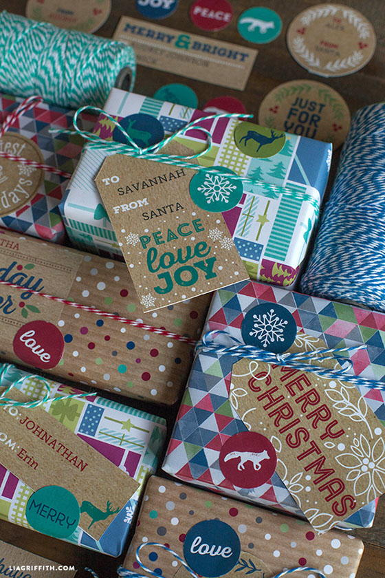 beautiful rustic christmas gift tags printable