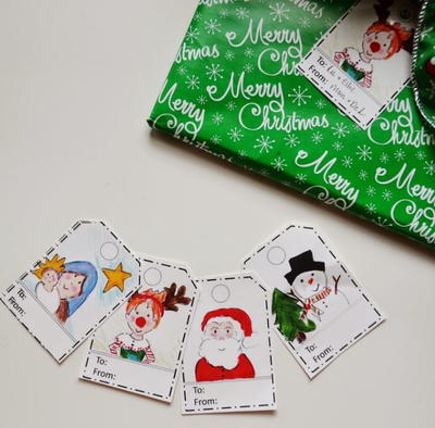 Snugglebug Crew Printable Christmas Tags
