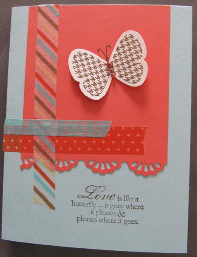 Butterfly and Washi Tape Card Idea