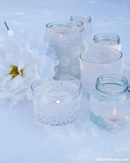 Quick  Easy Lace Candle Holders