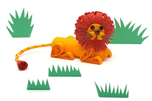 Leo the Paper Quilled Lion Craft