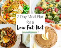 7 Day Meal Plan for a Low Fat Diet