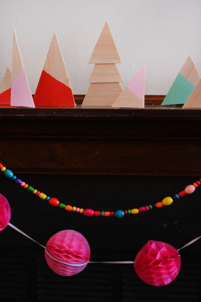 Color Blocked DIY Christmas Trees