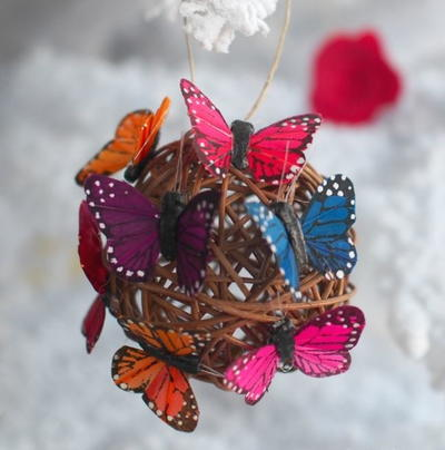 Enchanting Butterfly Ball Ornaments