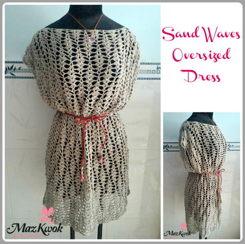 Sand Waves Oversized Dress