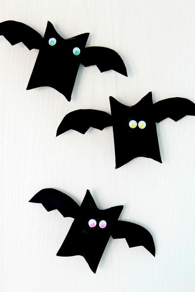 Halloween Bat Toilet Paper Roll Crafts