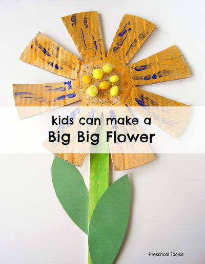 A Big Big Flower Craft for Kids