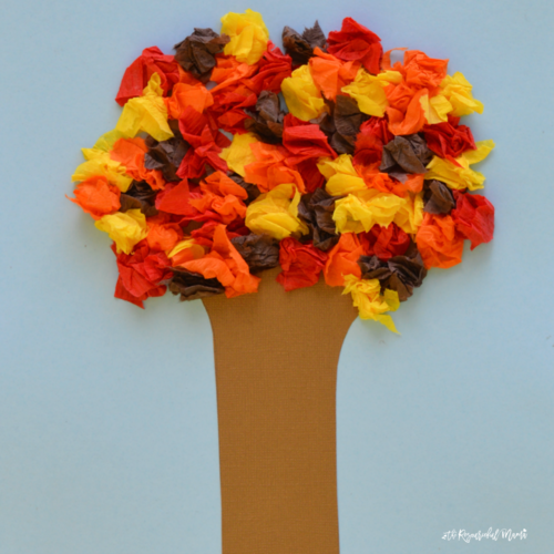 Crepe Paper Fall Tree Craft