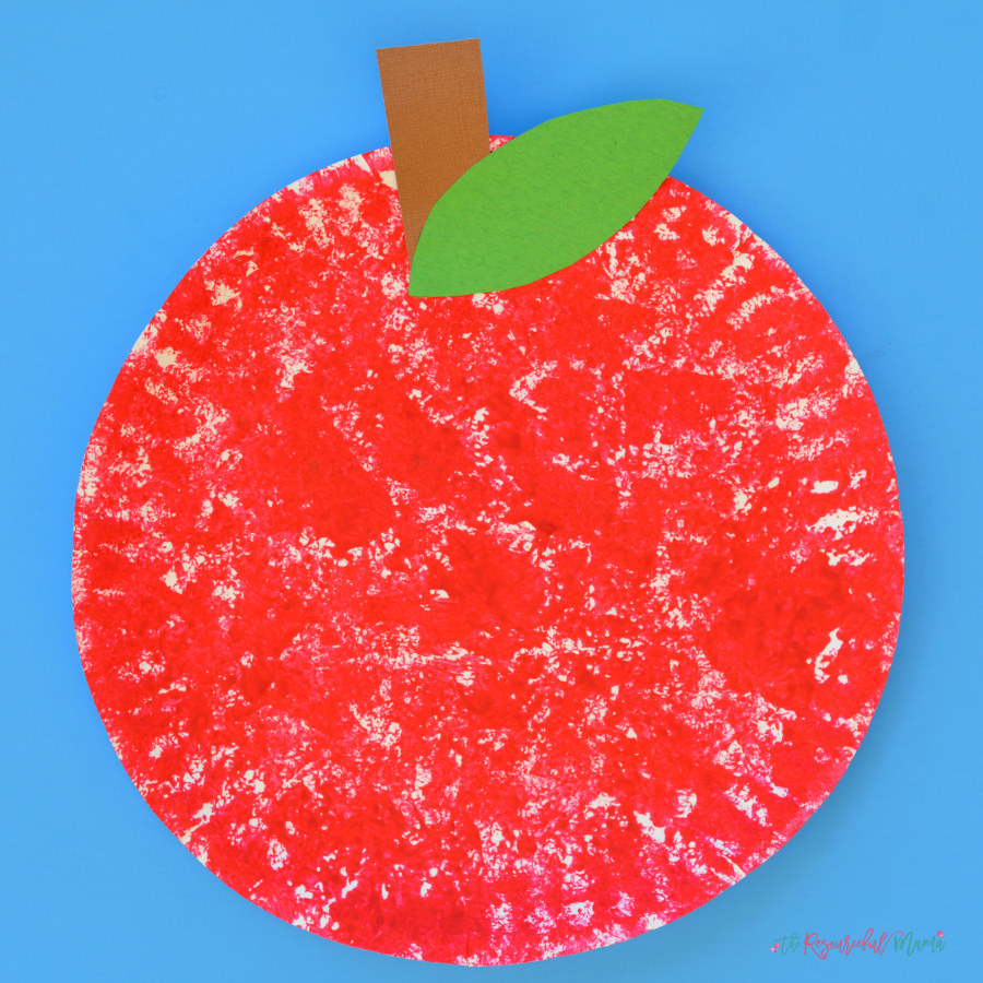 Sponge Painted Apple Craft