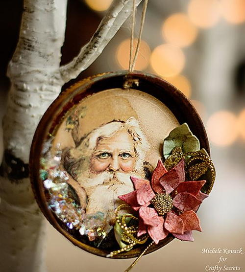 Old Man Winter Jar Lid Ornament