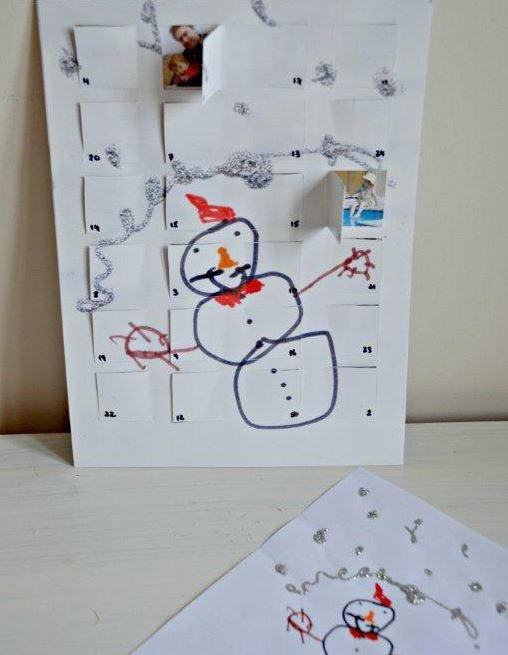 Hidden Family Photos DIY Advent Calendar