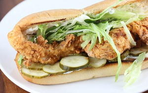 Popeye's Fried Chicken Po Boy Copycat