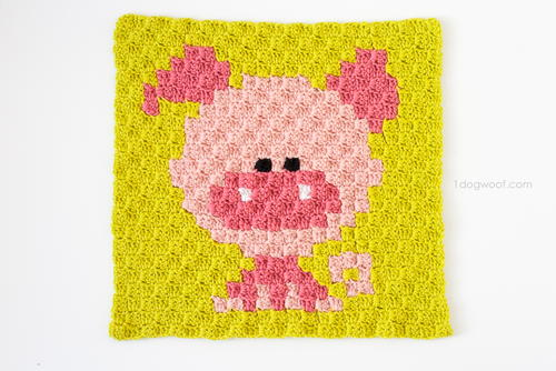 Zoodiacs Pig Afghan Square