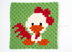 PDF CrochetCross-Stitch Rooster Round-Up Afghan