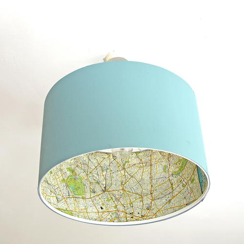 World Map Lamp Shade Makeover