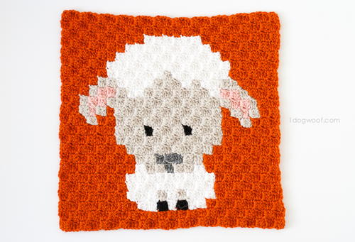 Zoodiacs Sheep Afghan Square