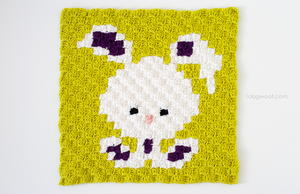 Zoodiacs Bunny Rabbit Afghan Square
