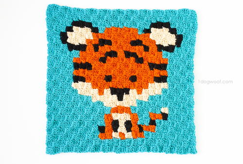 Zoodiacs Tiger Afghan Square