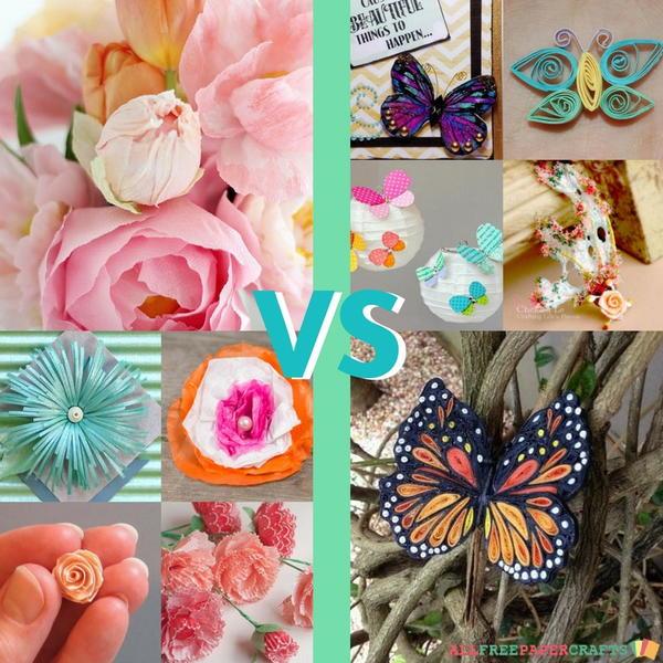 Most popular paper crafts paper flowers vs butterflies paper flowers vs paper butterflies mightylinksfo