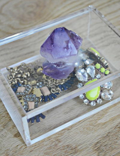 Amethyst DIY Jewelry Box Anthropologie Knockoff