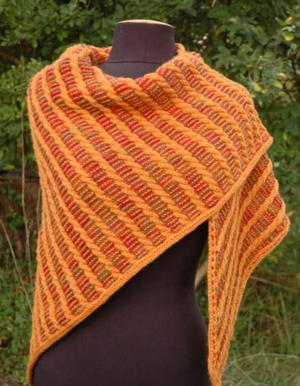 Midas Touch Golden Cables Shawl