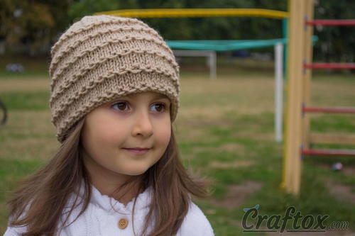 Chain Link Knit Hat Pattern  27de42c0bf3