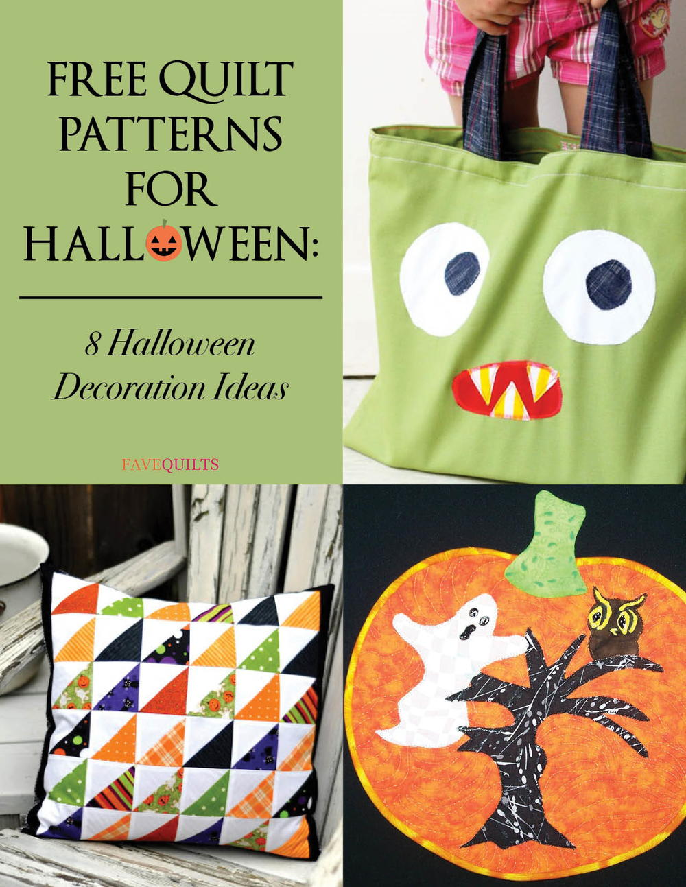 Free quilt patterns for halloween decoration