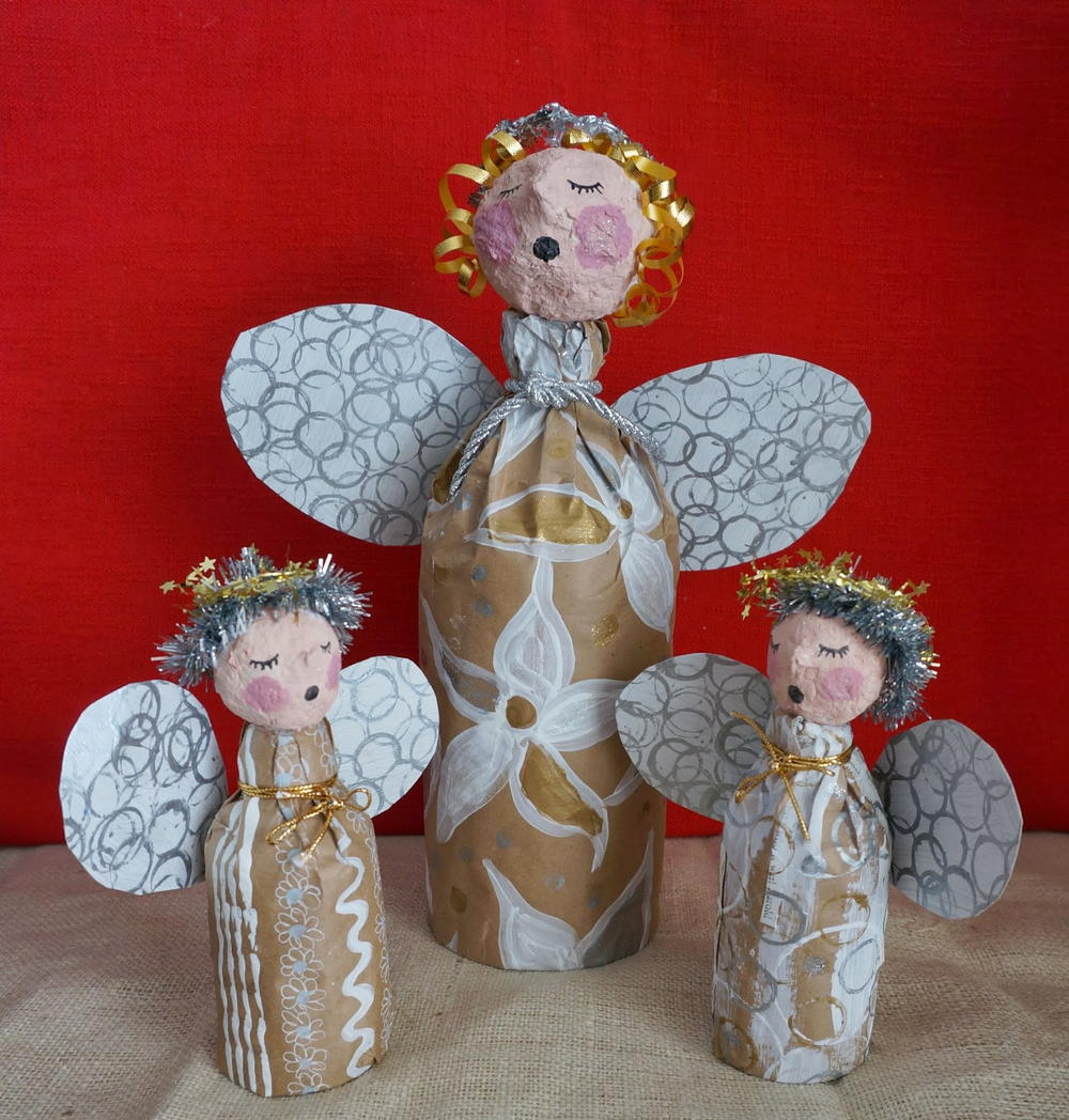 angel craft ideas bottled up diy decorations allfreechristmascrafts 1046