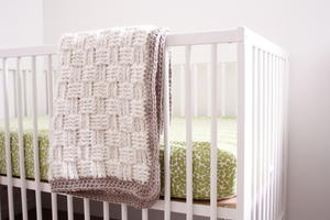 Plush Basketweave Baby Blanket Pattern