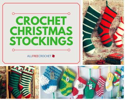 Crochet Christmas Stocking Pattern.34 Crochet Christmas Stockings Allfreecrochet Com