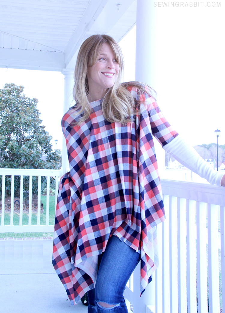 Michael Kors Inspired Poncho Pattern Allfreesewing Com