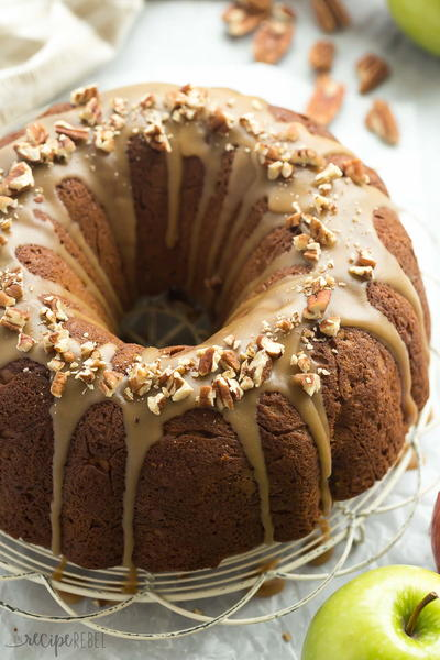Praline Glazed Apple Bundt Cake Recipe