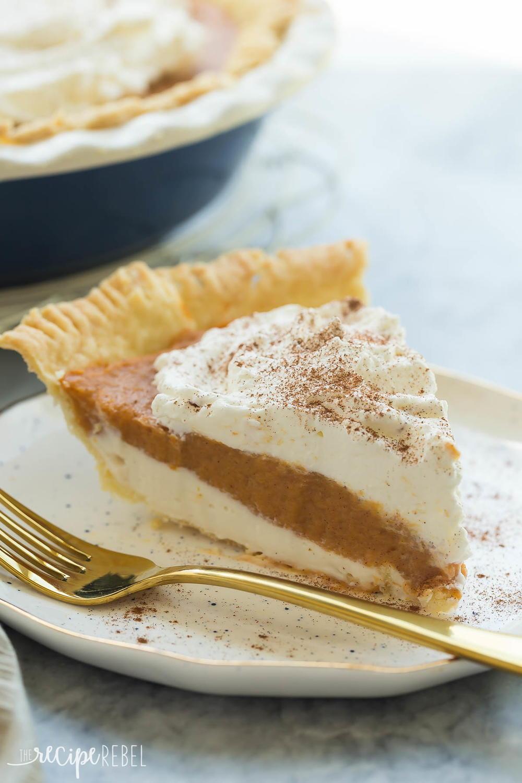 Cream Cheese Pumpkin Pie Recipe | TheBestDessertRecipes.com