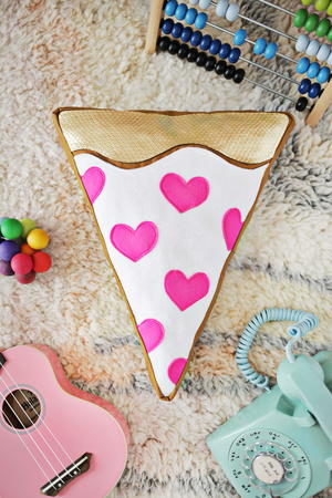 Pizza My Heart DIY Pillow