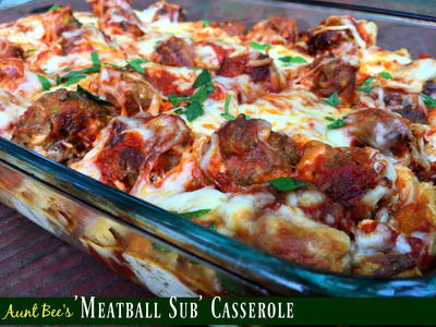 Homemade Meatball Sub Casserole Recipe