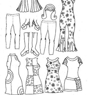 image about Paper Doll Printable called Ancient Womens Design and style Printable Paper Dolls