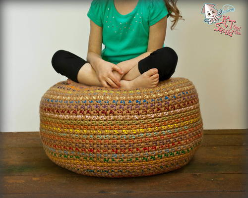 Stash Busting Monster Pouf