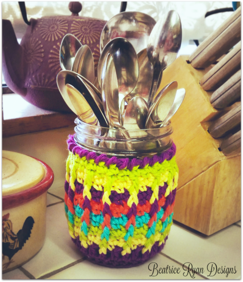 Rainbow Ridges Jar Cozy