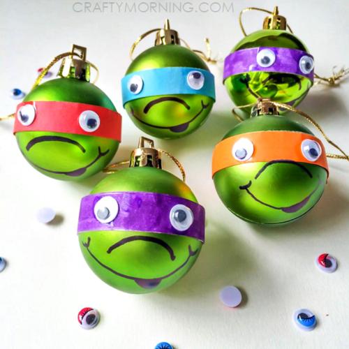 Cute Ninja Turtle DIY Christmas Ornaments