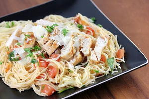 Copycat TGI Friday's Bruschetta Chicken Pasta