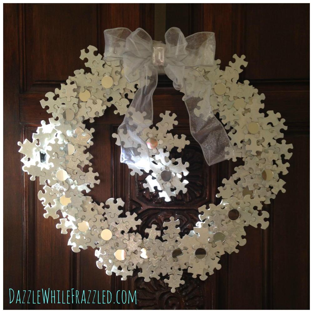 Puzzle Snowflake Door Wreath Diyideacenter Com
