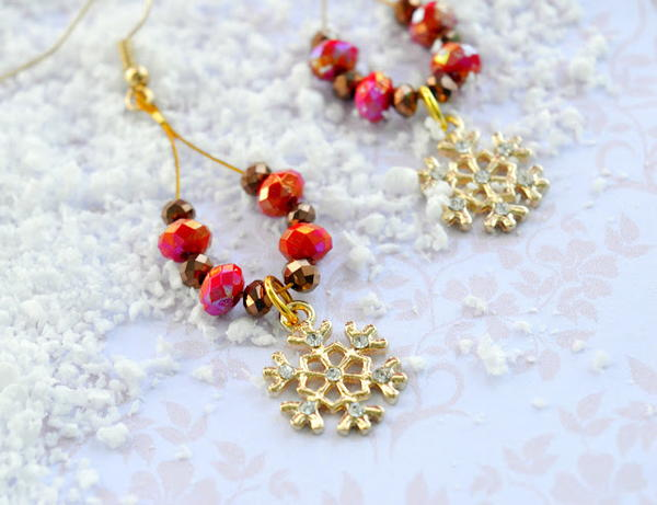 Festive Snowflake DIY Earrings