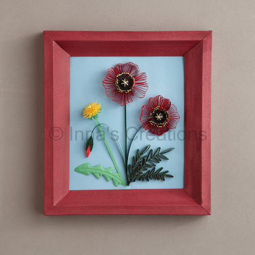 Paper Poppies Quilling Art
